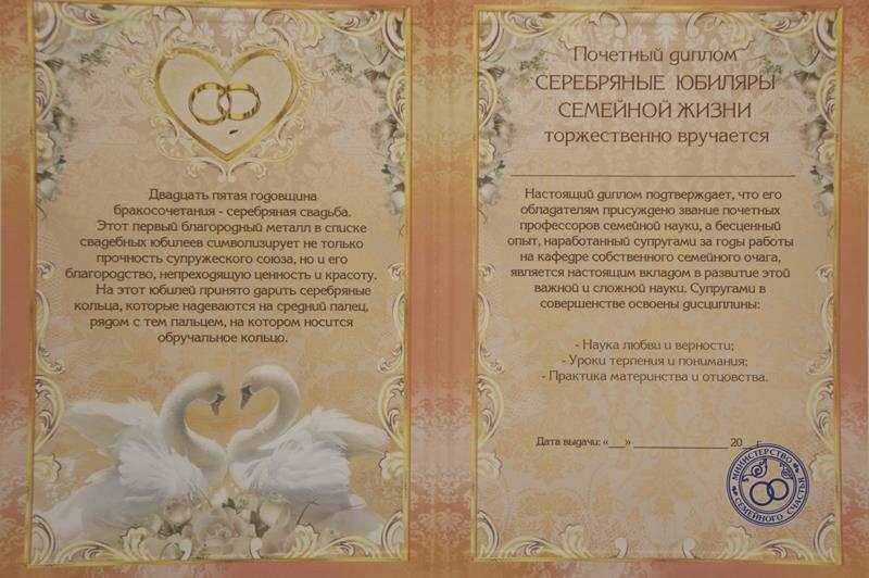 Поздравление сценкой для серебряной свадьбы