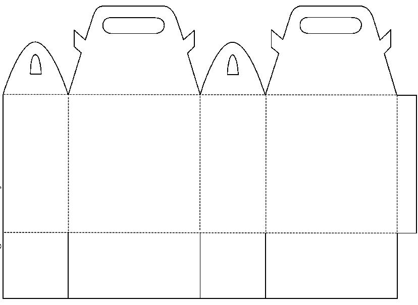 Подарочная сумочка из бумаги шаблон