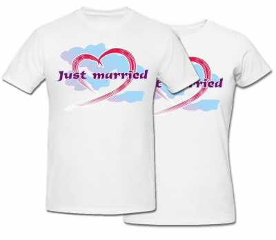 Комплект футболок *Just Married*
