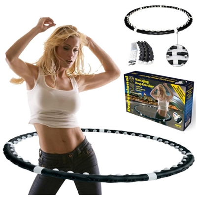 Утяжеленный массажный обруч с магнитами «Massaging Hoop Exerciser»